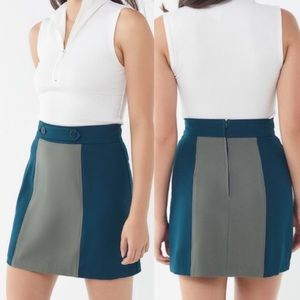 Urban Outfitters Colorblock Mini Skirt NWT